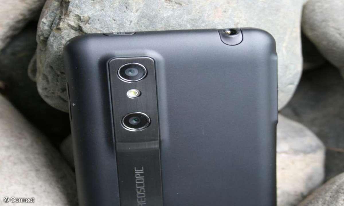 LG Optimus 3D Rückseite