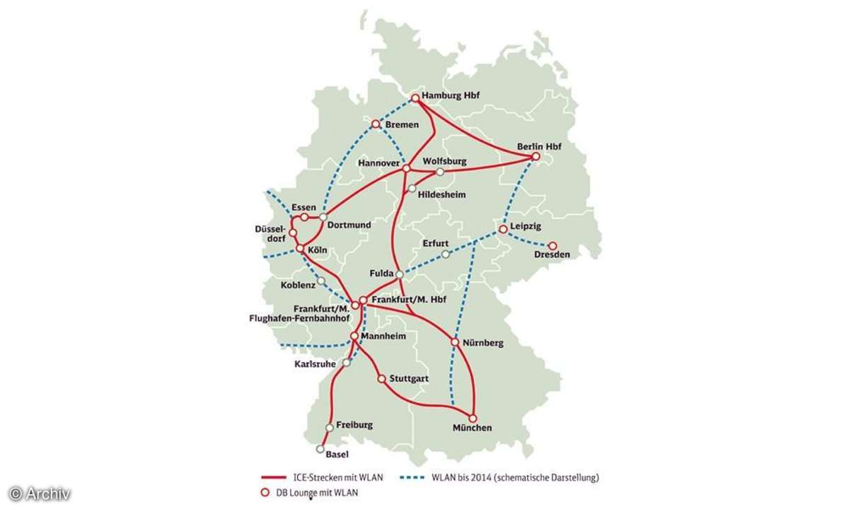 WLAN Bahn-Karte Deutschland