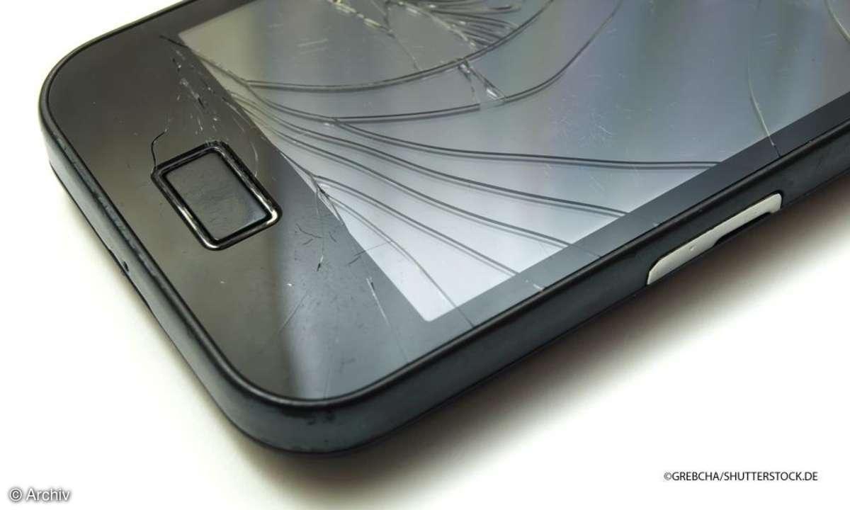 Smartphone Display defekt