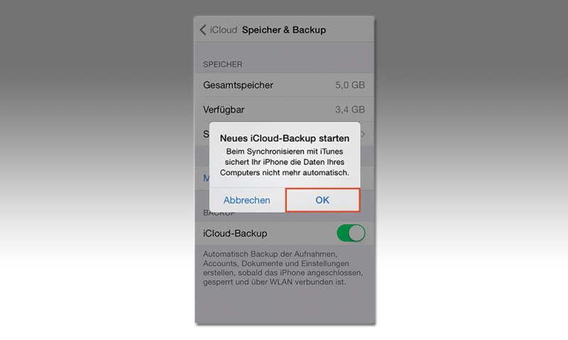 Wie erstelle ich eine iCloud-Sicherung?