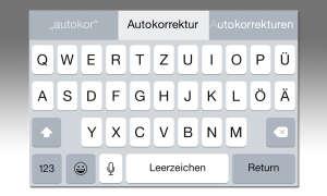 iOS-Autokorrektur