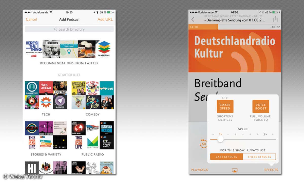 Screenshot: Podcast-App