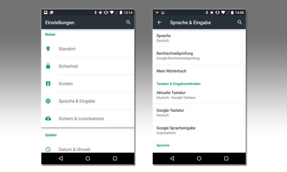 Android Rechtschreibkorrektur Anpassen Sprache Eingabe Connect