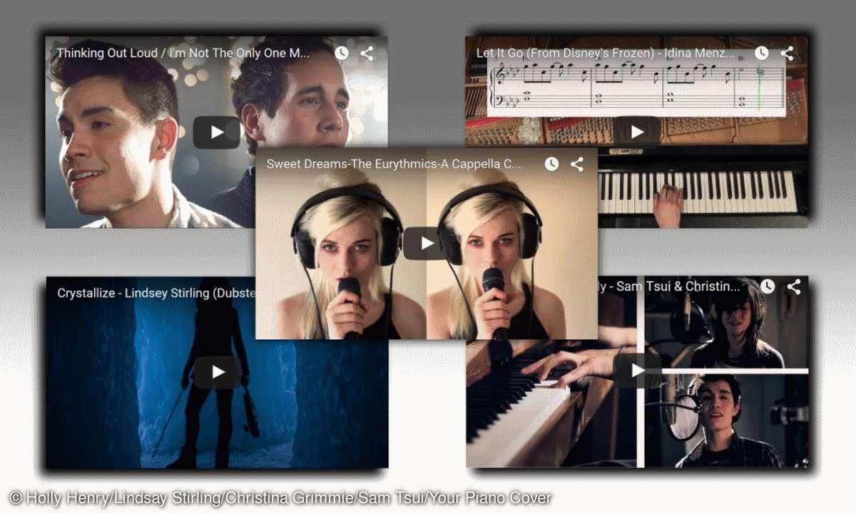 Verschiedenste YouTube Solisten