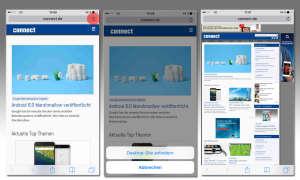 Desktop-Site anfordern bei iOS 9