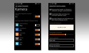 Windows Phone Einstellungen