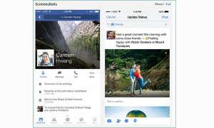 Facebook App für iOS