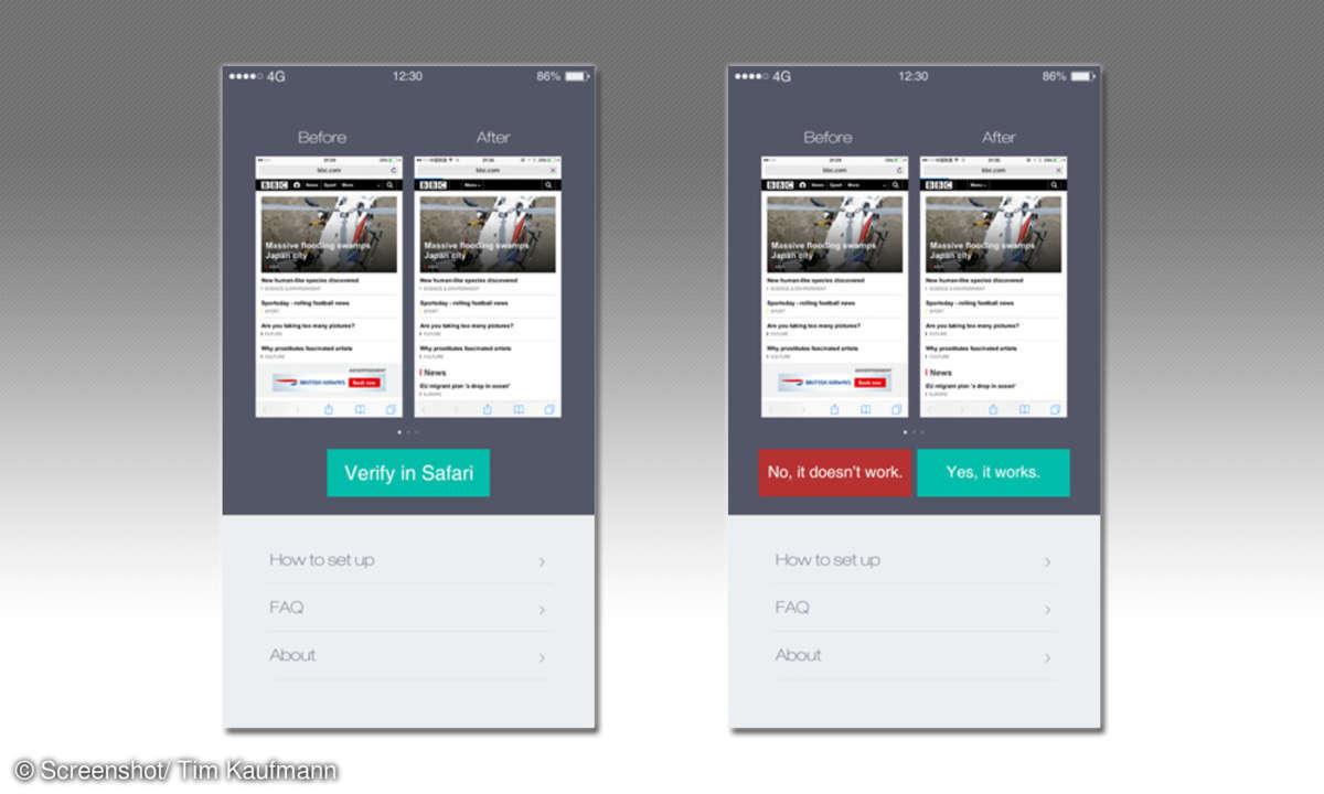 Adblocker für Safari Browser