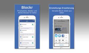 Blockr entfernt Social Media Knöpfe und Cookies