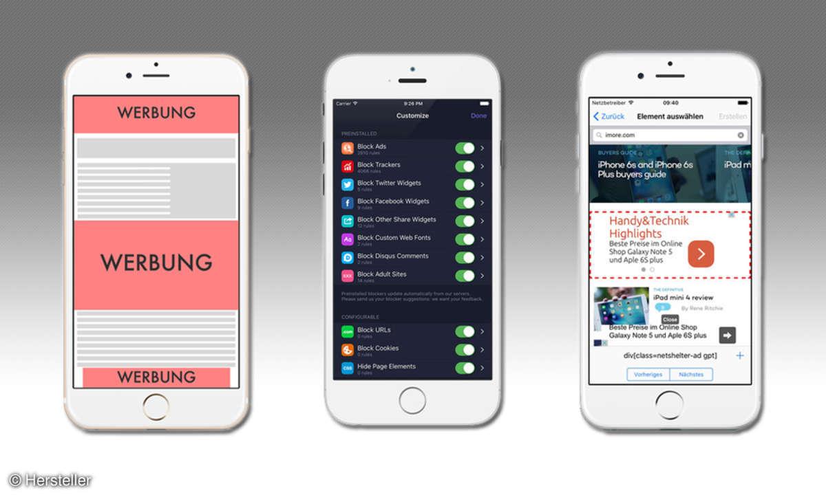iOS 9 Werbeblocker