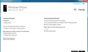 Windows Phone Desktop App
