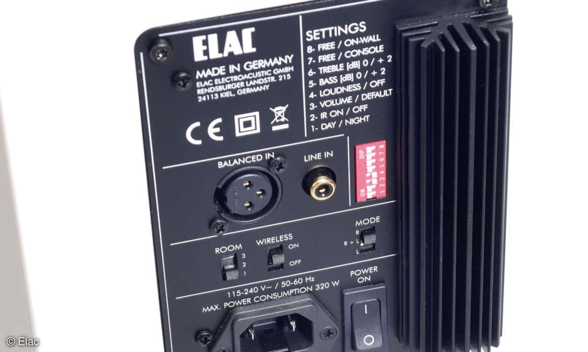Elac Air-X 409: Terminal-Eingänge