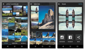 Layout by instagram: Android-Screenshot