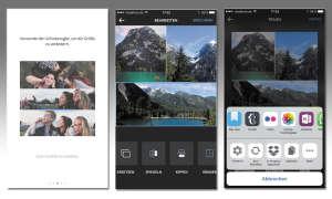 Layout by instagram App: iOS-Screenshot