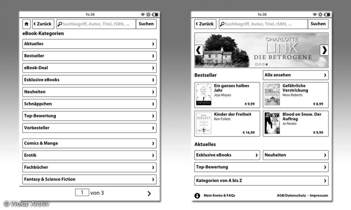 Tolino Screenshots