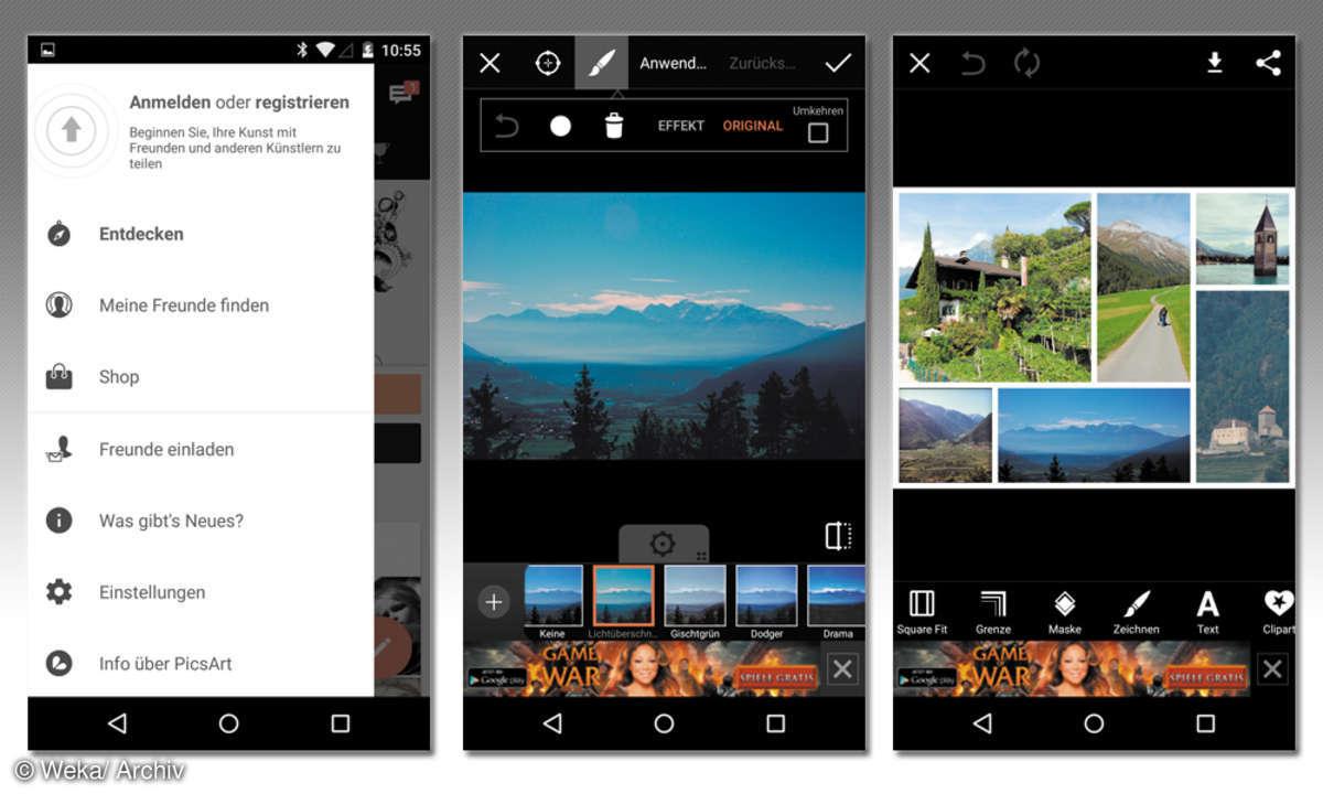 Picsart-App: Android-Screenshots