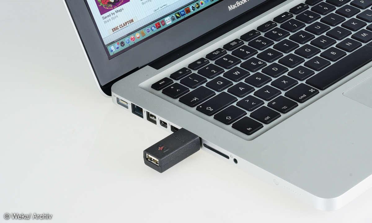 Audioquest Jitterbug und Laptop