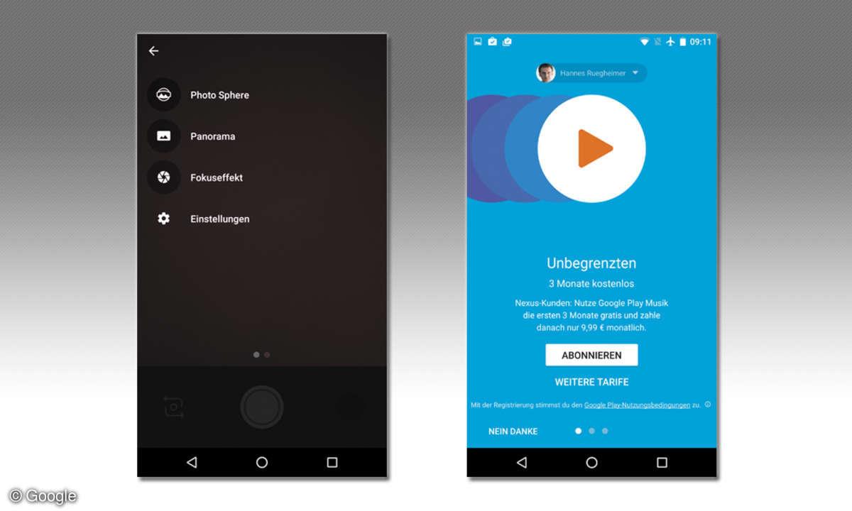 Nexus 5X und 6P Musik-/Fotofunktion