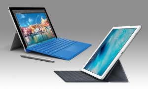 Apple iPad Pro und Microsoft Surface 4 Pro