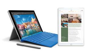 Surface Pro 4 und iPad Pro