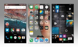 Screen von Android, iOS und Windows