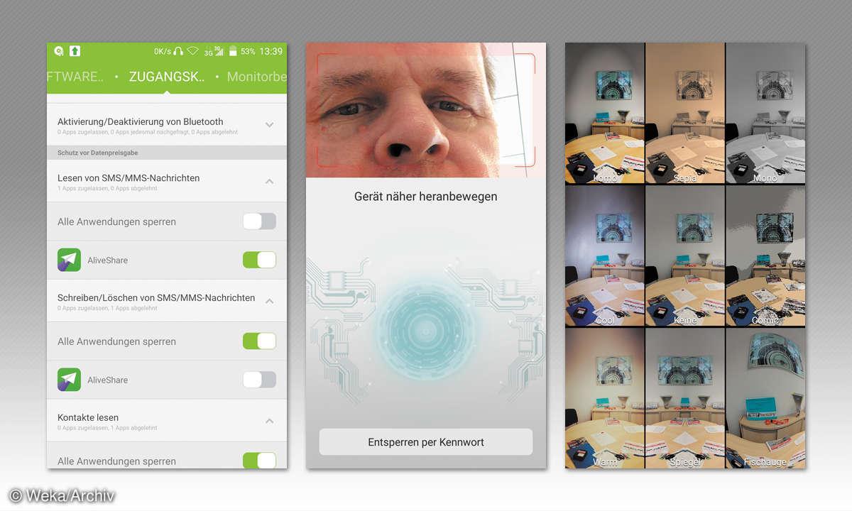 Screenshots: ZTE Axon Elite