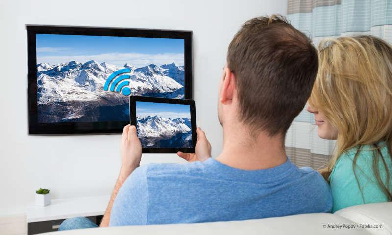 smartphone mit fernseher und lautsprecher verbinden connect. Black Bedroom Furniture Sets. Home Design Ideas