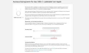 Apple Austauschprogramm USB-C-Ladekabel