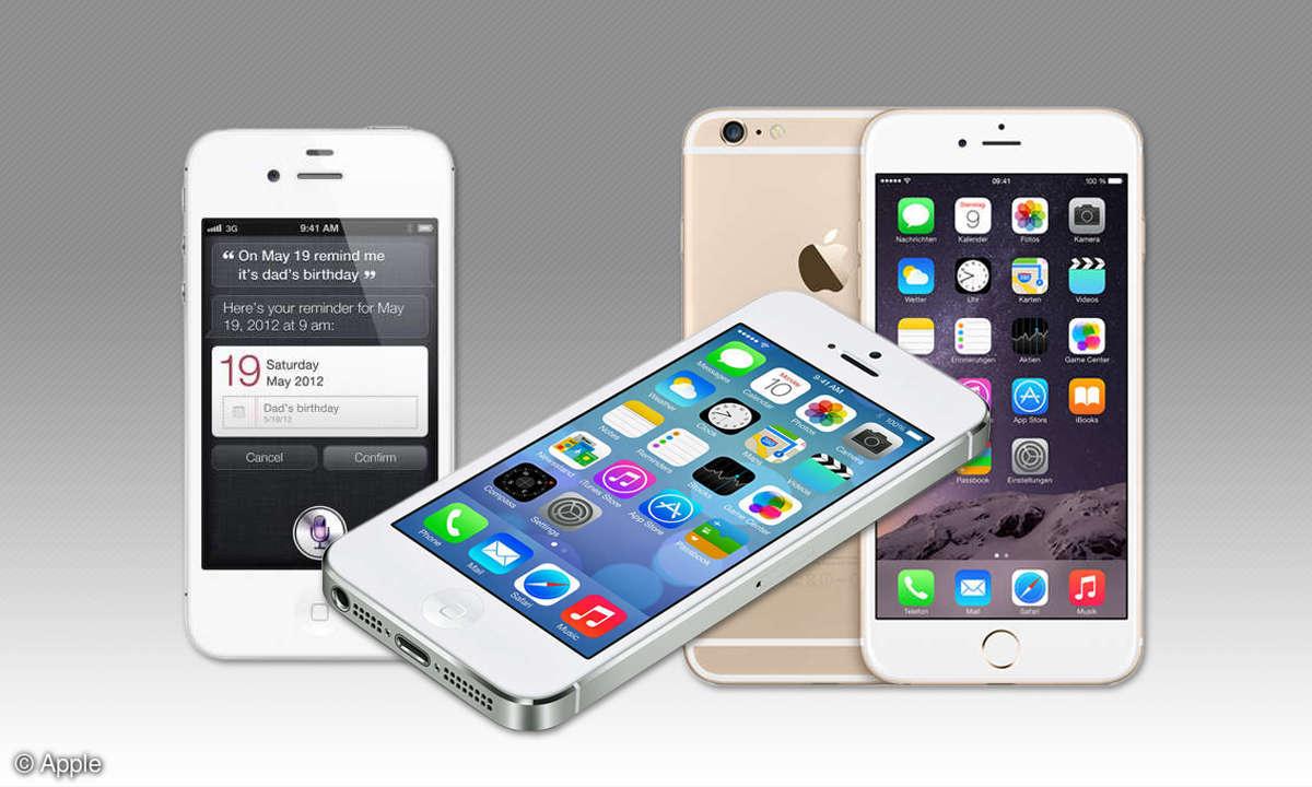 iPhone 4s, 5s und 6s