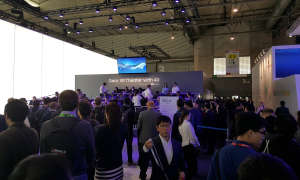 Samsung-Messestand: Gear VR Kino