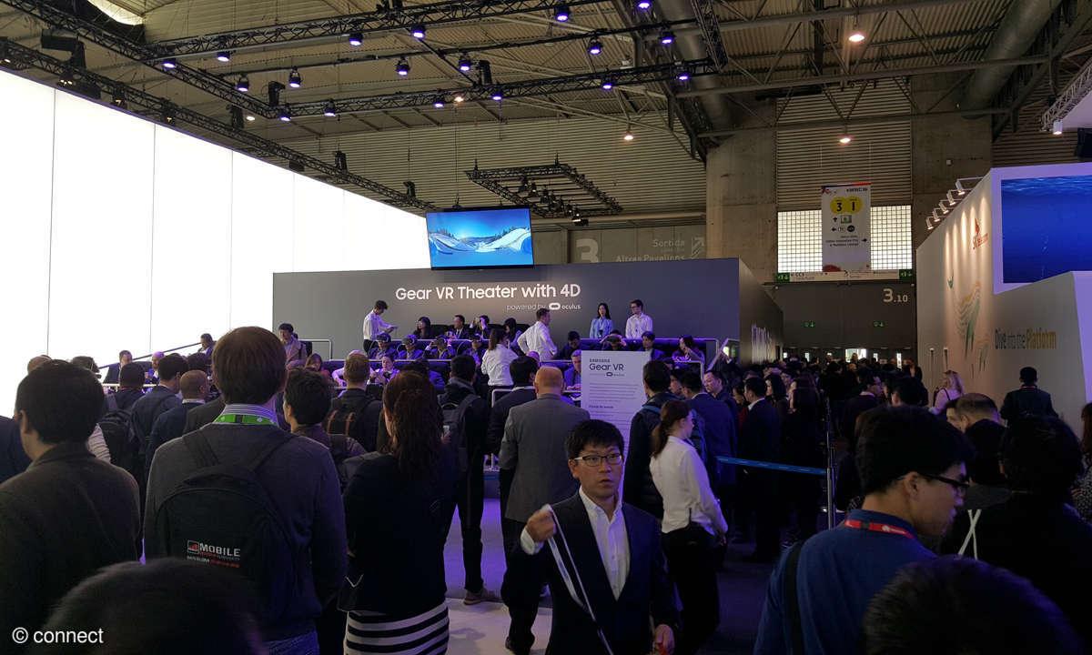 Samsung-Messestand: Gear VR Kino
