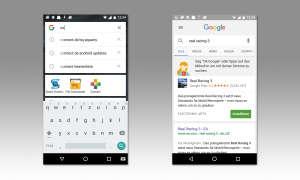 Screenshot: App direkt über die Google-Suchleiste finden