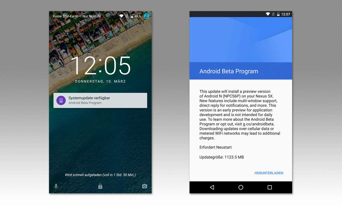 Android N Beta - OTA-Update