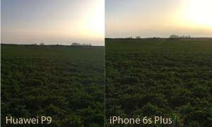 Huawei P9 und iPhone 6s Plus Lichtverhältnisse