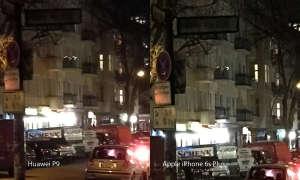 Huawei P9 und iPhone 6s Plus Nachtaufnahme