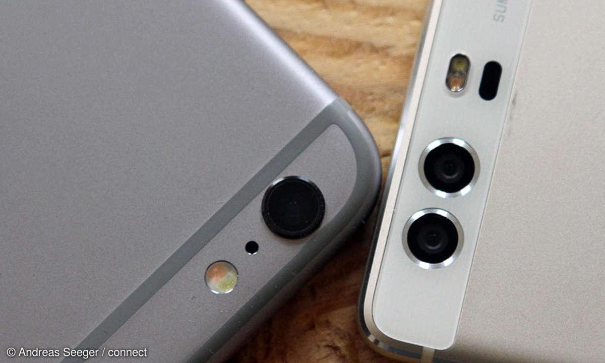 Huawei P9 und iPhone 6s Plus Kamera