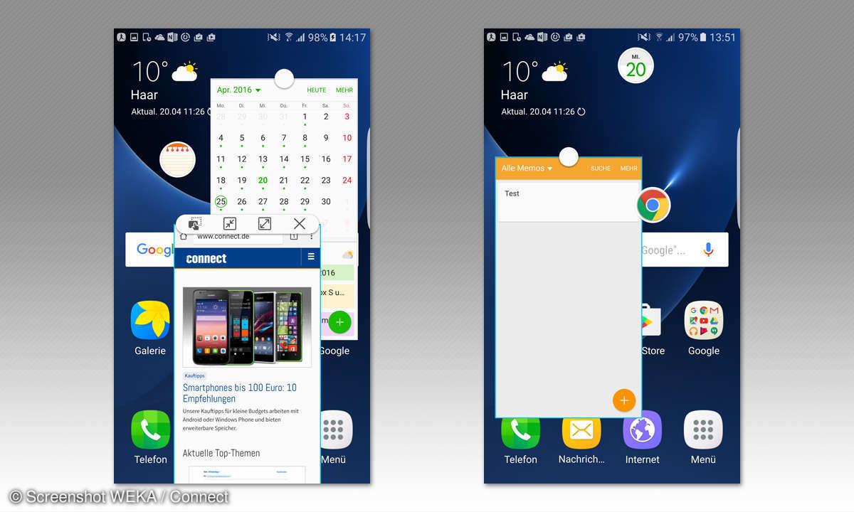 Galaxy S7 Pop-Up-Fenster