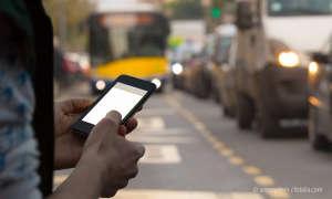 Smartphone im Verkehr