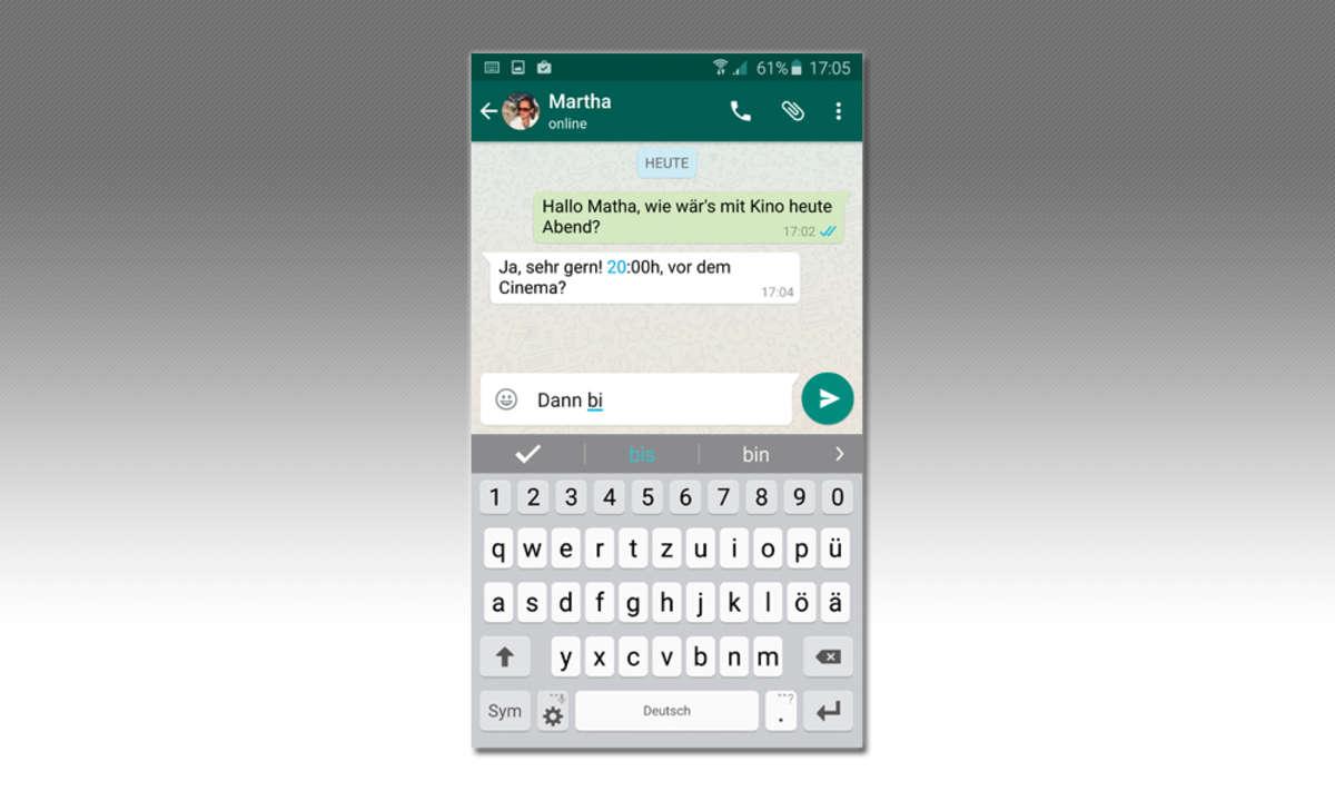 Whatsapp Textnachricht