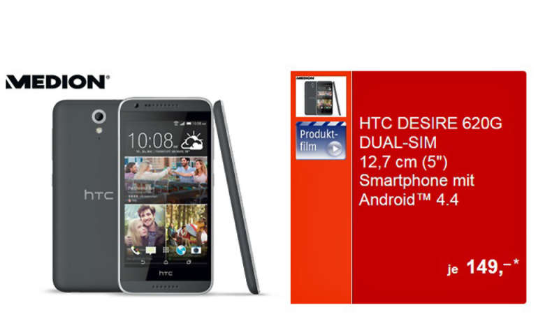 HTC Desire 620G Dual-Sim bei Aldi für 149 Euro