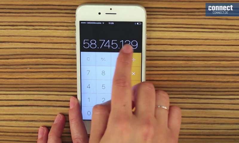 tarnen Sie Ihr iPhone als Taschenrechner