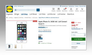 Apple iPhone 5S bei Lidl