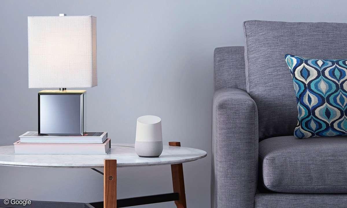 Google Home im Wohnzimmer