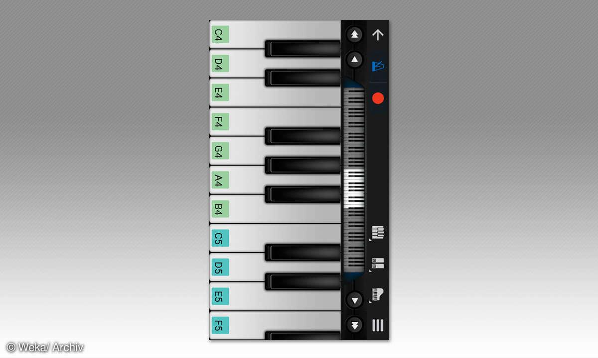 Screenshot: Klaviertasten