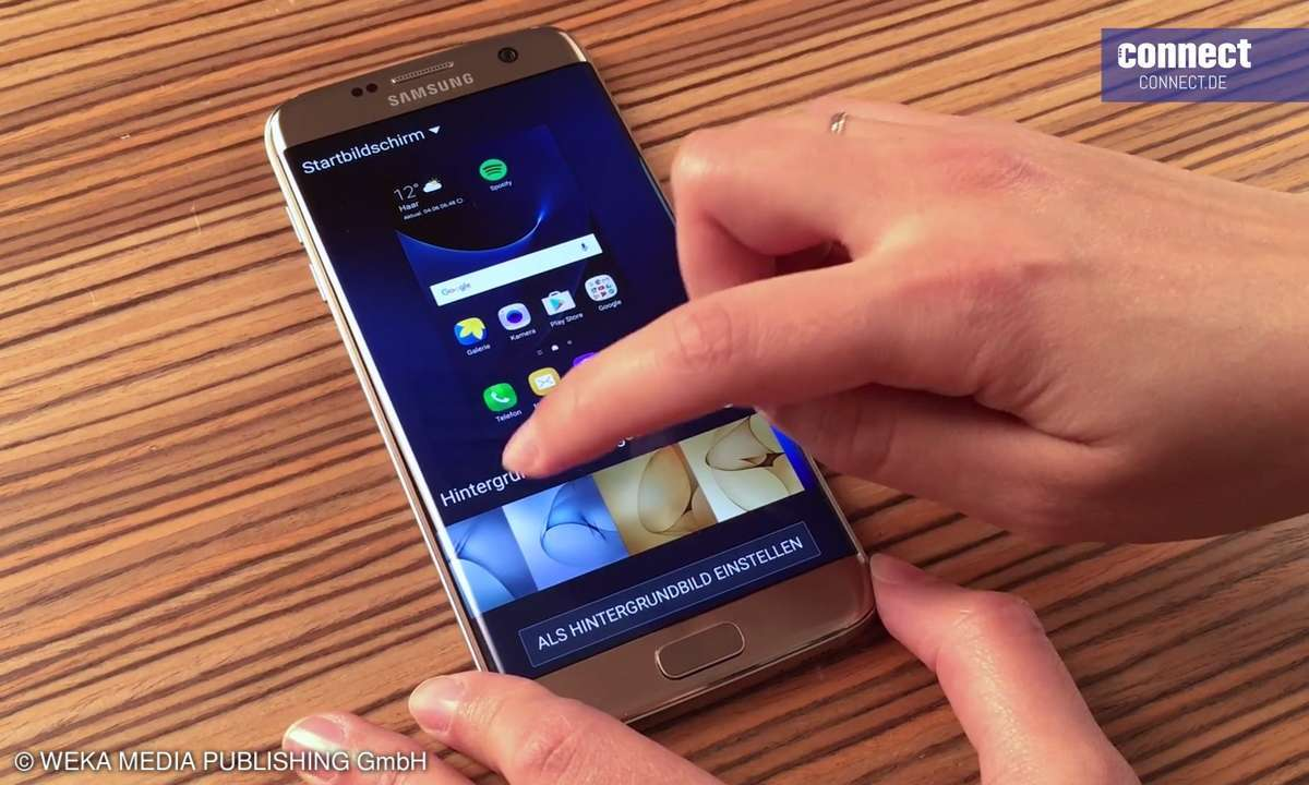 Android 6 Marshmallow Galaxy S7 Edge Hintergrund einstellen