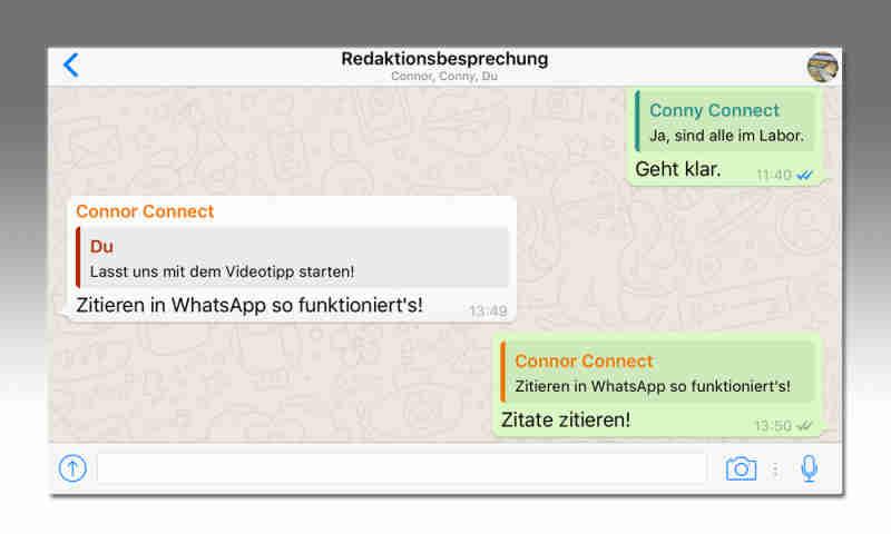 Whatsapp Nachrichten Zitieren Zitat Funktion Connect