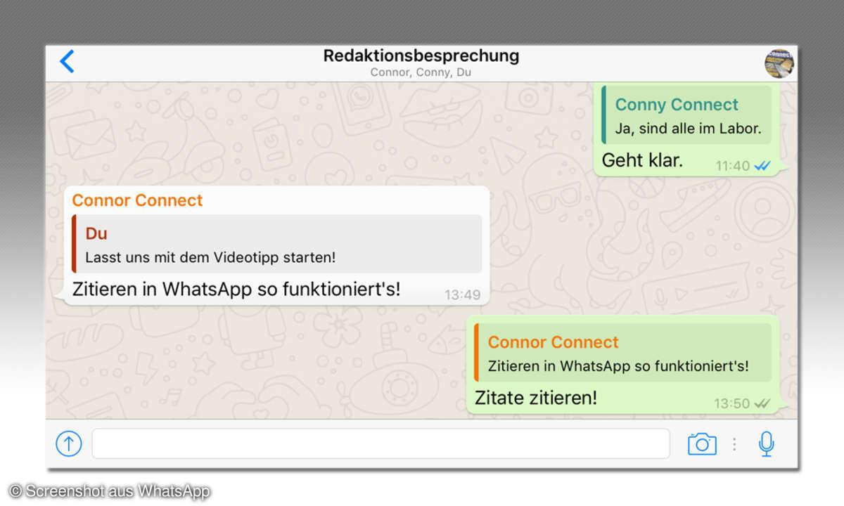 Zitat Zitieren Antwort WhatsApp Nachricht Message