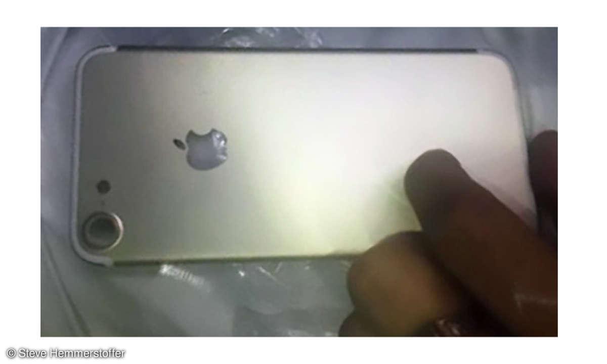 iPhone 7 Rückseite - geleaktes Foto