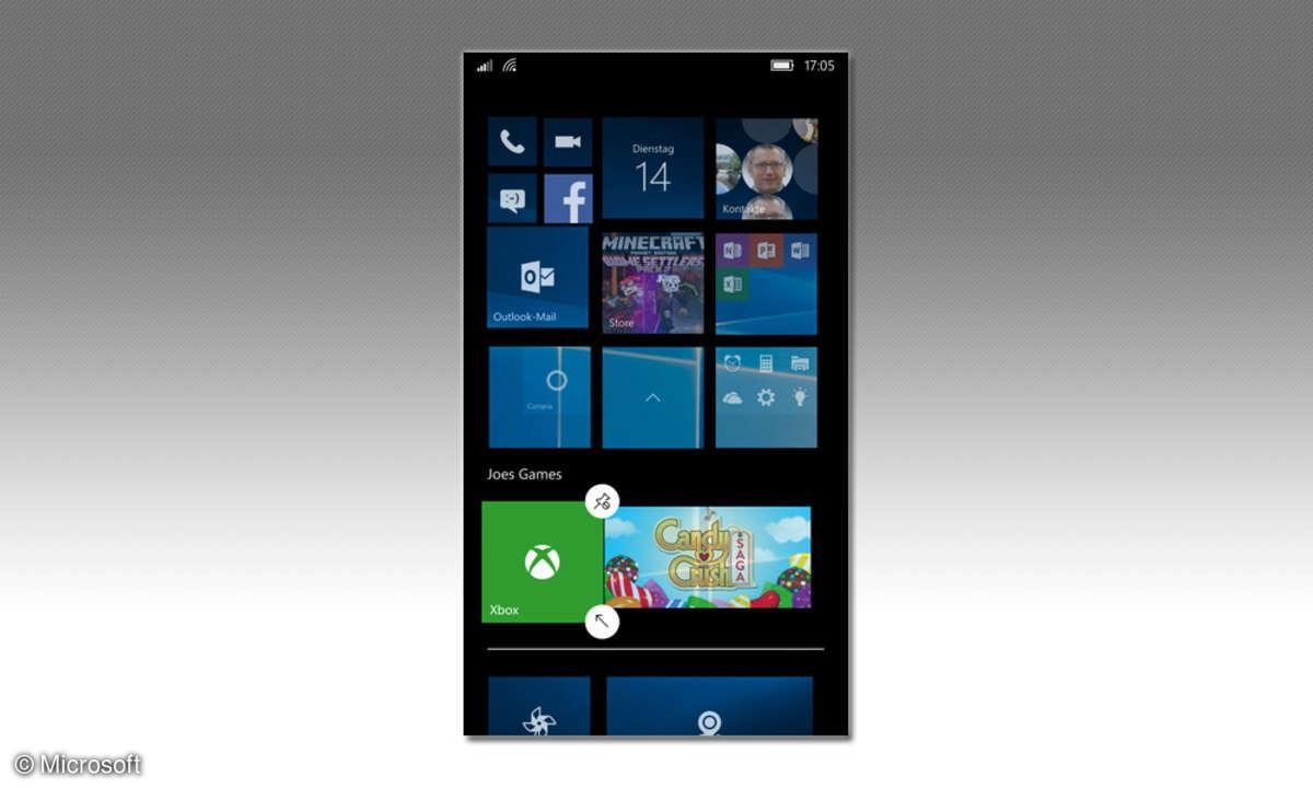 Microsoft Startbildschirm