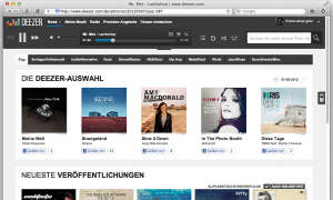 Streaming Service Deezer Screen